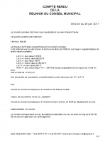 Compte rendu du Conseil Municipal du 26/06/2017