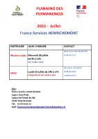 permanence Henrichemont Juillet 2021